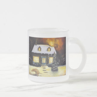 Kinkade's Worst Nightmare Frosted Glass Coffee Mug