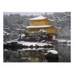Kinkaku Snow Art Photo