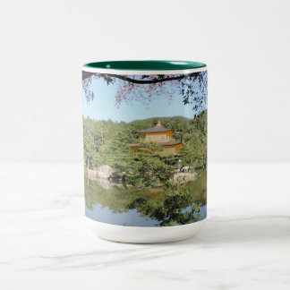 Kinkakuji Golden Pavilion - Large Two-Tone Mug