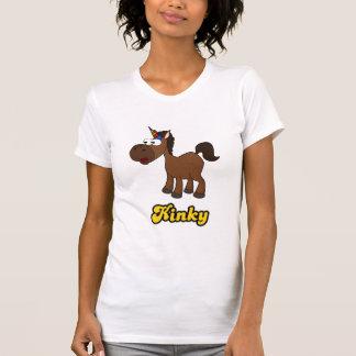 Kinky: Black Unicorn With Afro T-Shirt