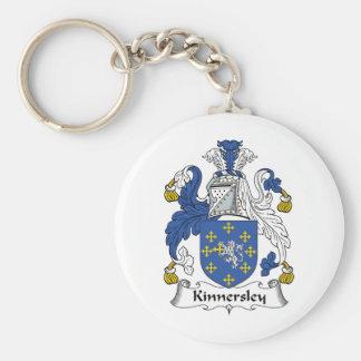 Kinnersley Family Crest Basic Round Button Key Ring
