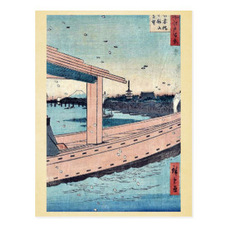 Kinryuzan Temple and bridge by Ando, Hiroshige Postcard