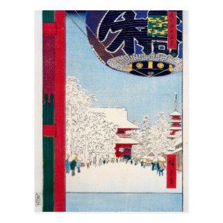Kinryuzan Temple at Asakusa by Hiroshige Postcard