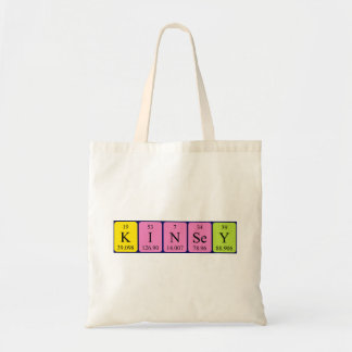 Kinsey periodic table name tote bag