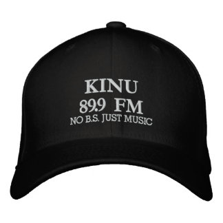 KINU 89.9 FM, NO B.S. JUST MUSIC EMBROIDERED HATS