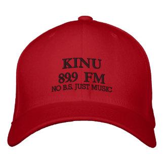 KINU 89 9 FM NO B S JUST MUSIC EMBROIDERED HATS