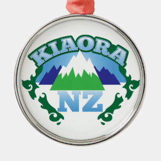 KIORA Kiwi New Zealand hello Metal Ornament