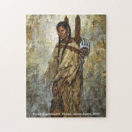 Kiowa Cradleboard, Native American woman puzzle