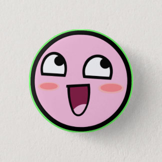 kirby awesome 3 cm round badge