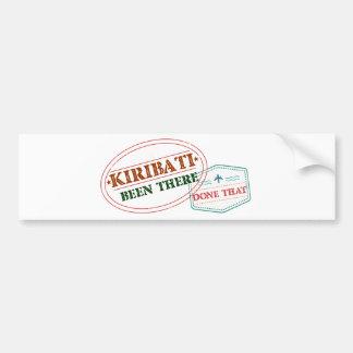 Kiribati Been There Done That Bumper Sticker