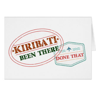 Kiribati Been There Done That Card