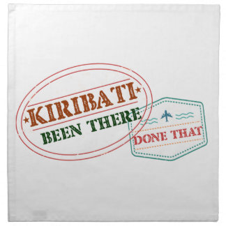 Kiribati Been There Done That Napkin