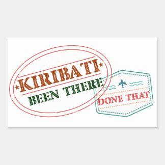 Kiribati Been There Done That Rectangular Sticker
