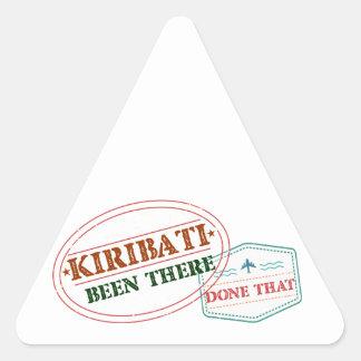 Kiribati Been There Done That Triangle Sticker