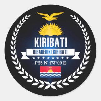 Kiribati Classic Round Sticker