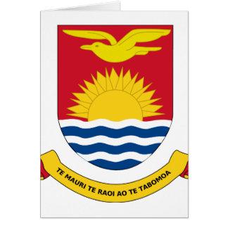 kiribati emblem greeting card