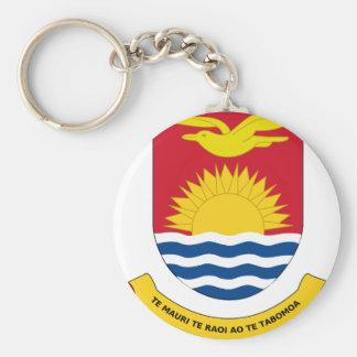 kiribati emblem basic round button key ring
