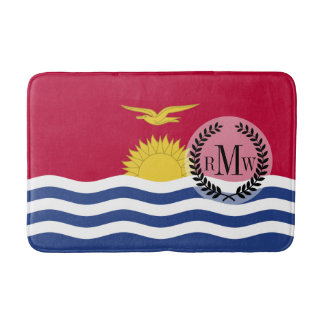 Kiribati Flag Bath Mat