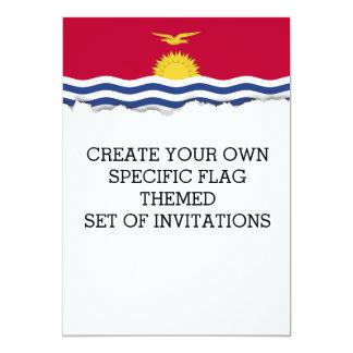 Kiribati Flag Card