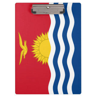 Kiribati Flag Clipboard