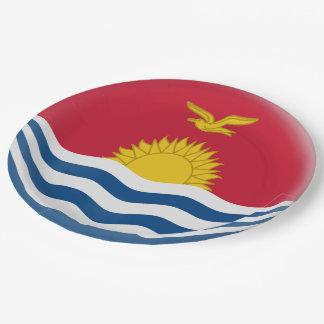 Kiribati Flag Paper Plate