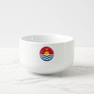 Kiribati Flag Soup Mug