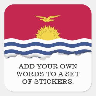 Kiribati Flag Square Sticker