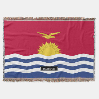 Kiribati Flag Throw Blanket
