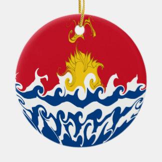 Kiribati Gnarly Flag Christmas Ornament