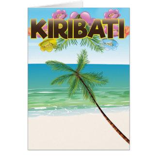 Kiribati Island travel poster Card