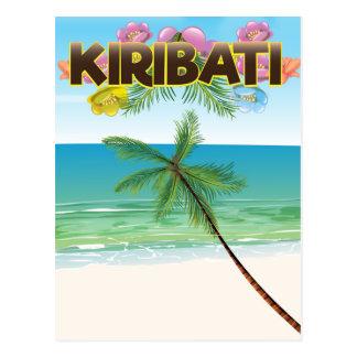 Kiribati Island travel poster Postcard
