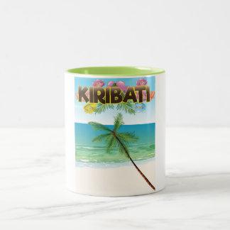 Kiribati Island travel poster Two-Tone Coffee Mug
