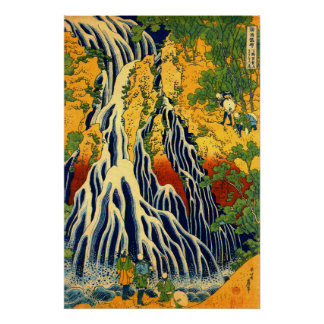 Kirifuri Waterfall at Mount Kurokami in Shimotsuke Poster