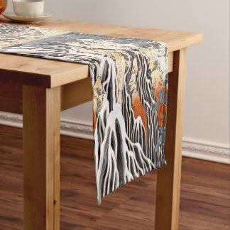 Kirifuri Waterfall on Mount Kurokami in Shimotsuke Short Table Runner