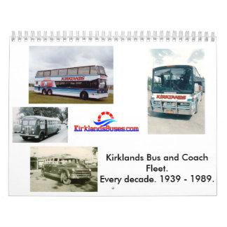 Kirklands Bus and Coach Fleet Wall Calendar