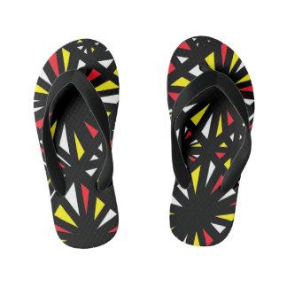 """Kirklen"" Adult Flip Flops Yellow Red Thongs"