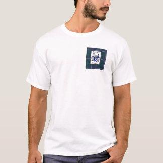 Kirkpatrick Crest on Douglas Blue Tartan T-Shirt