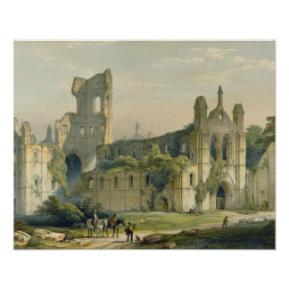 Kirkstall Abbey from the North West, from 'The Mon Poster