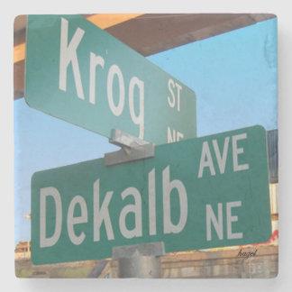 Kirkwood, Atlanta, Krog Dekalb Ave,Marble Coaster. Stone Coaster