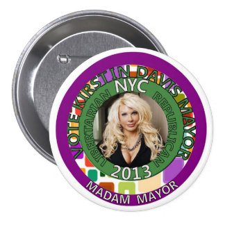 Kirstin Davis for NYC Mayor in 2013 7.5 Cm Round Badge