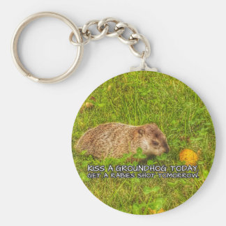 Kiss a groundhog today. Get a rabies shot keychain