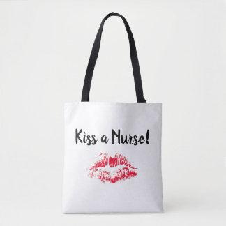 Kiss a Nurse tote bag