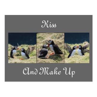 Kiss and Make Up Postcard