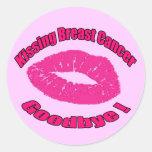 Kiss Breast Cancer Goodbye Round Sticker
