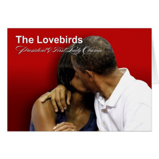 KISS CAM Lovebirds President & First Lady Obama Greeting Card