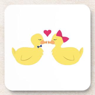 Kiss Ducks Drink Coasters