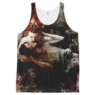 Kiss From A Rose All-Over Print Singlet