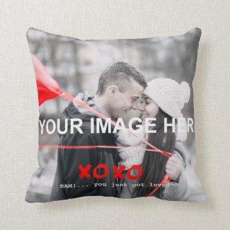 Kiss Hug Romantic Photo Cushion