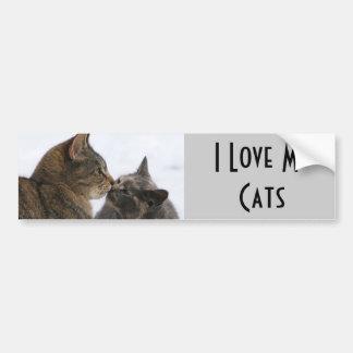 Kiss Kiss I Love MyCats Bumper Stickers