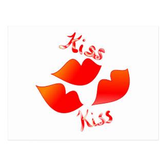 Kiss Kiss Postcard